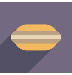 Flat web icon with long shadow macaroon vector