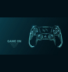 Futuristic with joystick game controller or vector