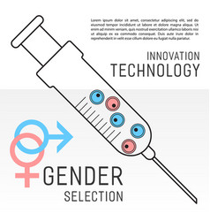 gender selection poster vector image
