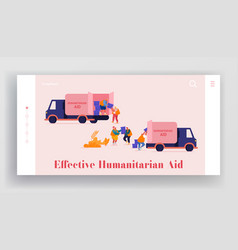 Governmental help to people in need landing page vector