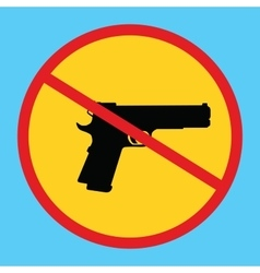Gun ban forbidden concept icon isolated weapon vector