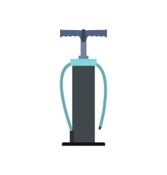 Hand pump flat icon vector