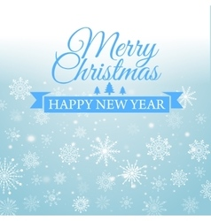 Happy New Year and Merry Christmas e-card vector