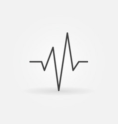 Heartbeat simple concept icon in thin line vector