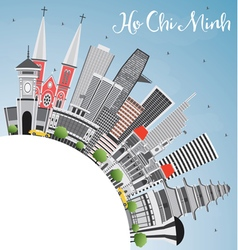 Ho Chi Minh Skyline with Gray Buildings vector image