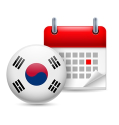 Icon of National Day in South Korea vector image