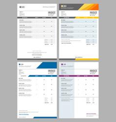 Invoice bills service money agreement vector