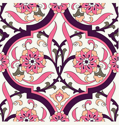 Iznik tile floral seamless pattern design vector