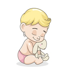 Kid with a toy vector