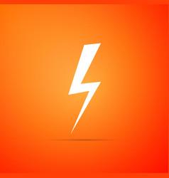 lightning bolt icon flash icon charge flash icon vector image
