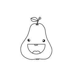 Line drawing fruit vector
