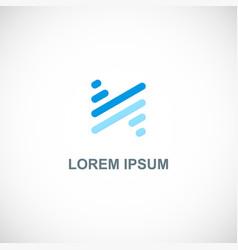 line technology stripe logo vector image