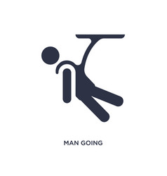 Man going bungee jumping icon on white background vector