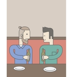 Men sitting in bar vector