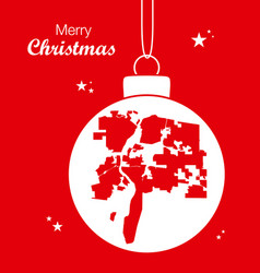 Merry christmas theme with map of albuquerque new vector