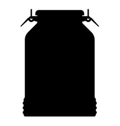 milk can container icon black color vector image