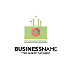Money bundle bucks transfer business logo vector