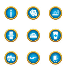 moving to the country icons set flat style vector image