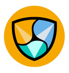nem virtual money currency cryptocurrency vector image