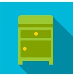 Nightstand flat icon vector image
