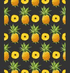 Pineapple geometric seamless pattern vector