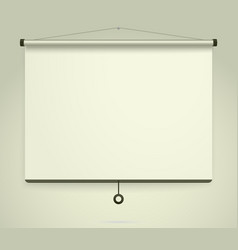 presentation empty projection screen whiteboard vector image