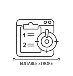 Priority task linear icon vector