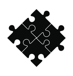 Puzzle black simple icon vector image