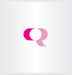 q sign logo symbol magenta icon vector image