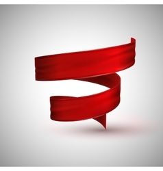 Red textile ribbon vector
