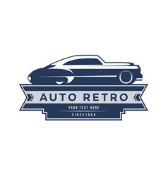 Retro car logo template design vintage logo style vector
