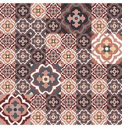 retro floor tiles pattern vector image