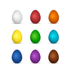 set of easter eggs all colors of the rainbow vector image