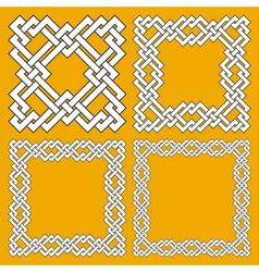 Set of magic knotting frames vector image