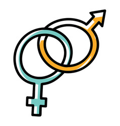 Sex gender symbol vector