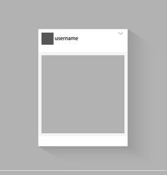 Social network photo frame inspired social vector