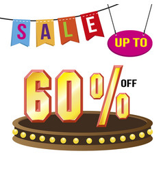 special 60 offer sale tag isolated vector image