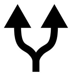 Split Arrows Up Flat Icon vector