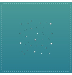 Starry sky icon vector