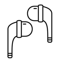 stereo wireless earbuds icon outline style vector image