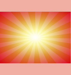 sun burst with sunset colors background vector image