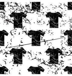 T-shirt pattern grunge monochrome vector