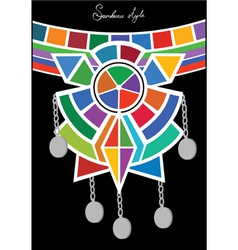 Tribal ethnic ornament of pectoral vector image