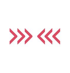 Triple chevron arrows directed horizontally vector
