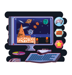 Video game scene interface vector
