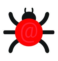 virus computer background vector image
