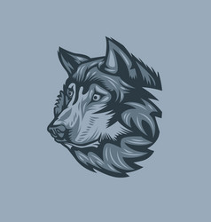wolf who saw the victim vector image