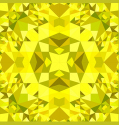 Yellow seamless kaleidoscope pattern background vector