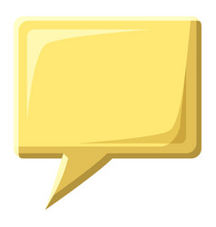 Yellow speech bubble square shape icon vector