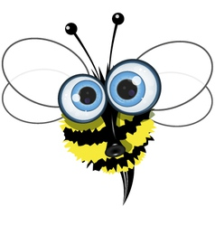 angry buzzy bee vector image
